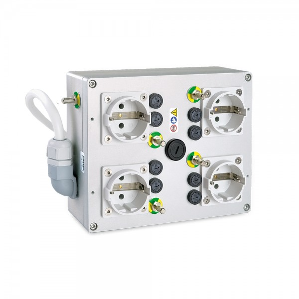 Medical multiple socket outlet e-medic™ MED4-Q400AN EU, 5m