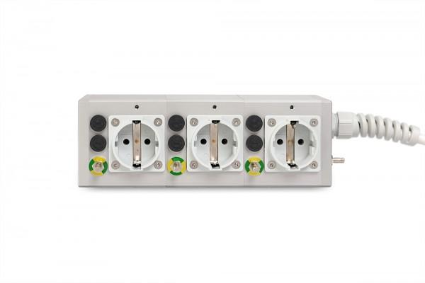 Medical 3-way socket outlet MEDX ZPA