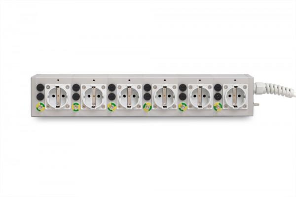 Medical 6-way socket outlet MEDX ZPA